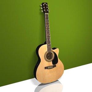 acoustic electric guitar 3d max
