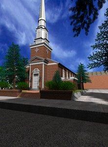 3d model church city