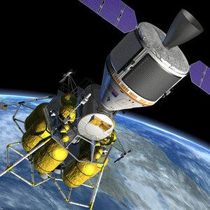 3d model nasa spacecraft moon