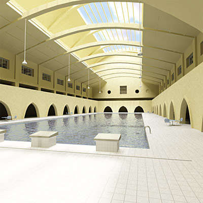 3ds max swimming-pool swimming pool