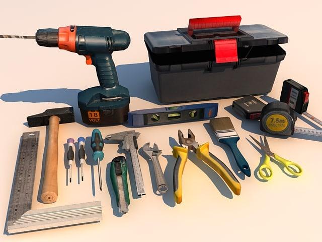 3d max handtools 01 tools plier