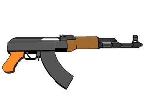 free assault rifle 3d model