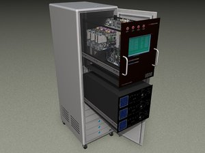 free computers server space 3d model