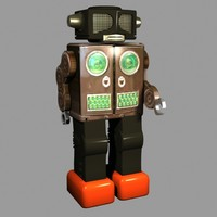 Animated Tin Toy Battery operated Robot Max 3
