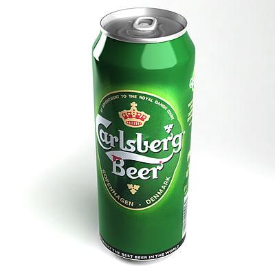 3d carlsberg beer