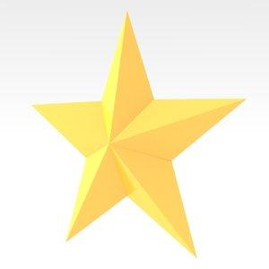 star symbol 3d obj