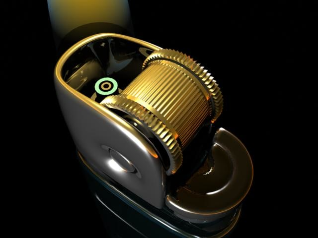 gas cigarette lighter 3d model