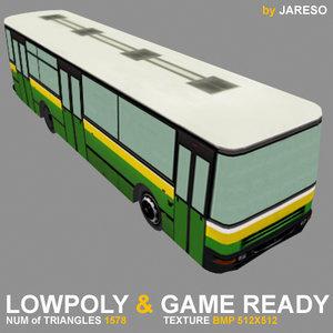 3d model bus realtime games