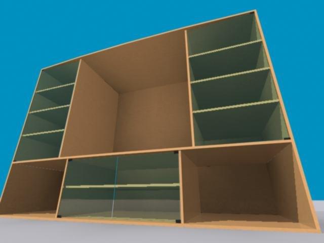3d model tv wall unit
