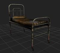 3d model hospital old bed terror