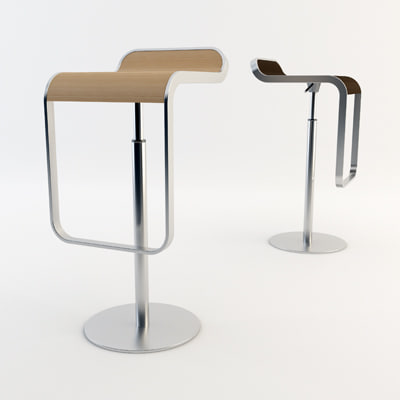 lapalma lem stool 3d model