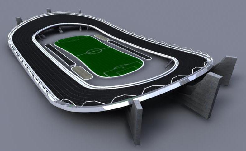 futuristic track field 3d ma