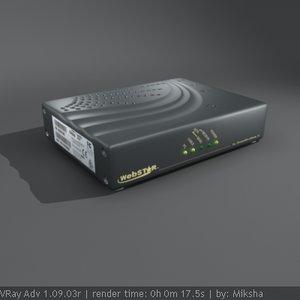 external modem 3d max