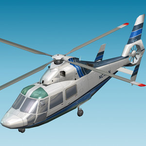 commercial dauphin cia 3d model