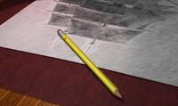 pencil eraser 3d model