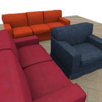 3ds max composition sofa america color