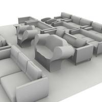 sofa pack 1 3d max