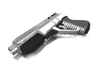futuristic hand gun 3d model
