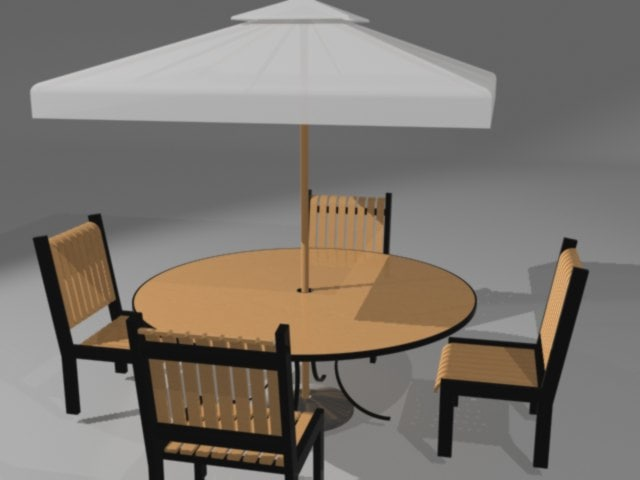 table chairs umbrella max