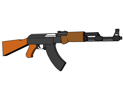 ak-47 rifle stock 3ds free