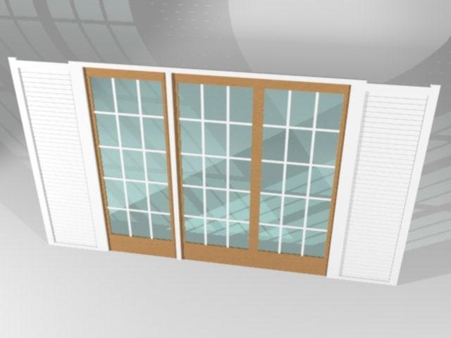 3d residential door