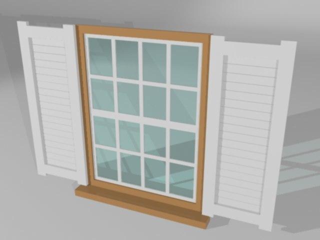 residential window 3d model
