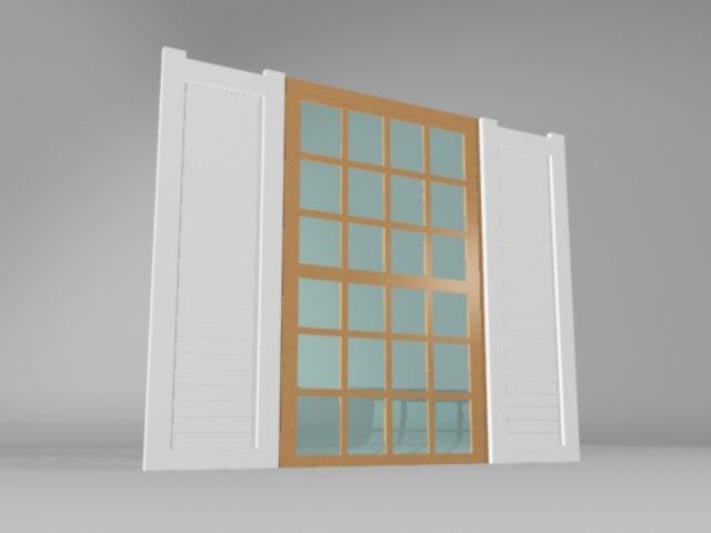 3d model residential window
