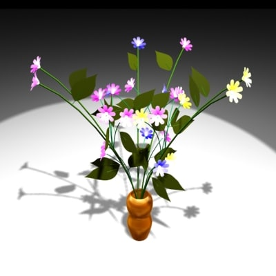 free flowers 3d model