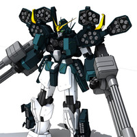 3d mobile gundam wing heavyarms model