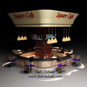 cafe restaurant 3d 3ds