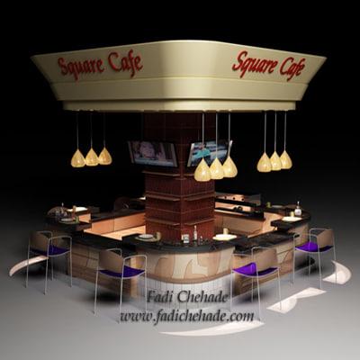 cafe restaurant 3d 3ds