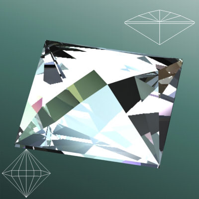 3ds max gem diamond jewelry