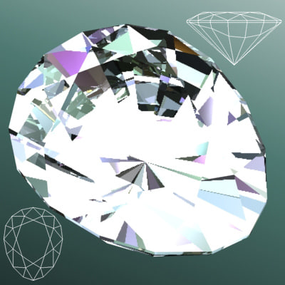 3d model gem diamond jewelry