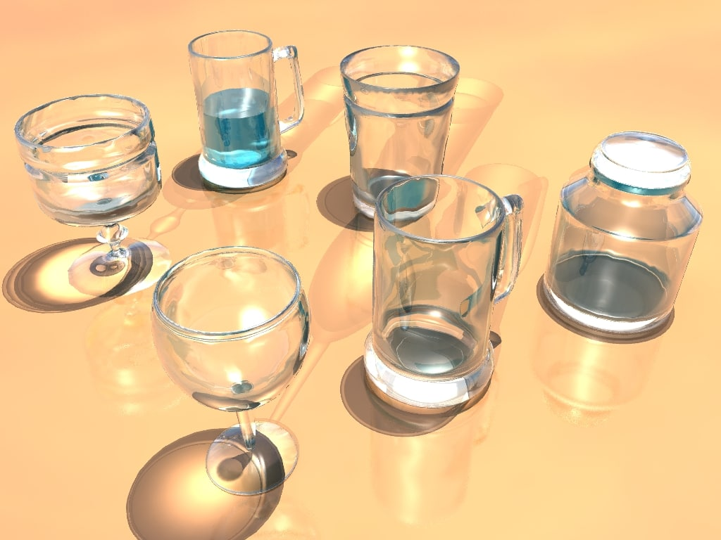 glassware glass beer 3d obj