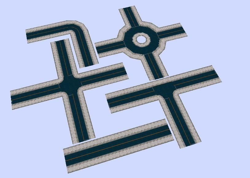 3ds city road sections
