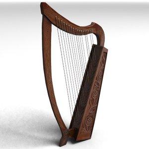 harfe strings 3d 3ds