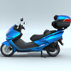 delivery scooter 3d model