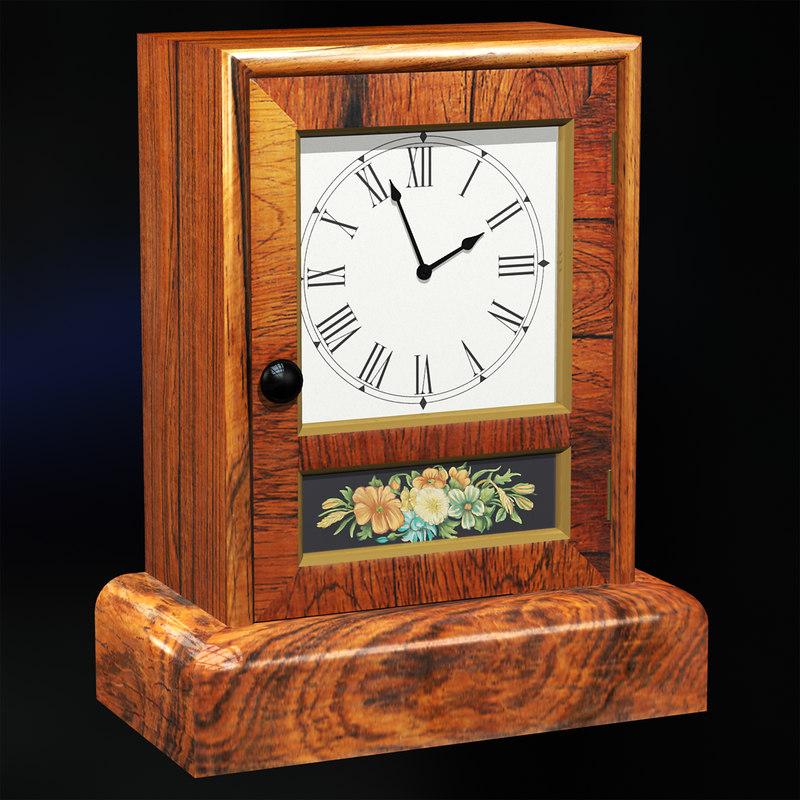 antique mantel clock 3ds