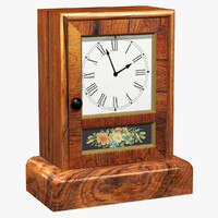 antique mantel clock 3ds