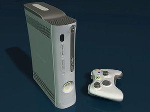 3d model xbox 360 console