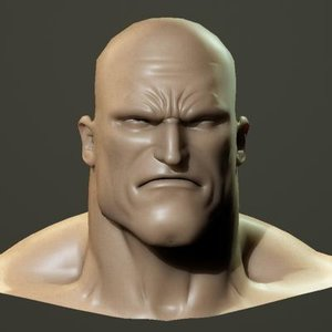 3dsmax angry male head