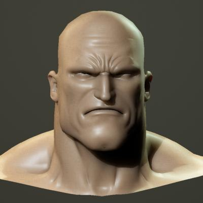 3dsmax angry male head