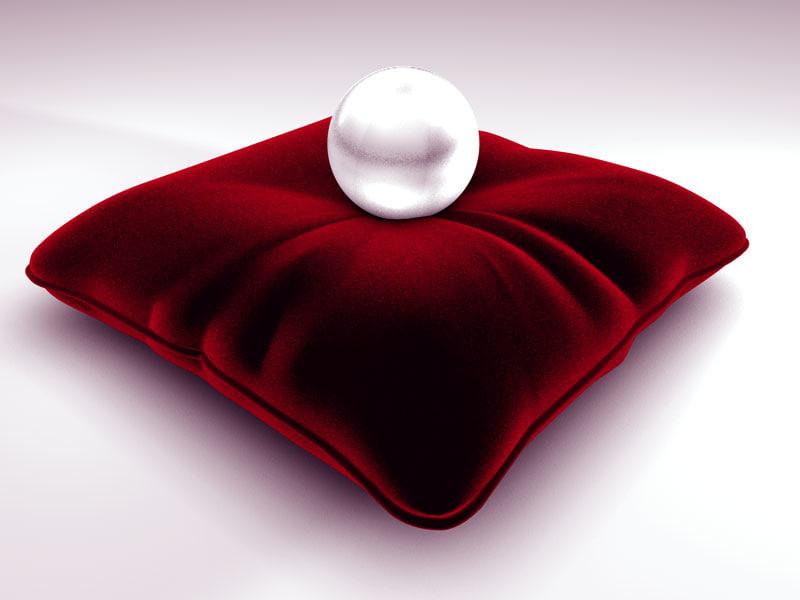 pearl pillow 3d model