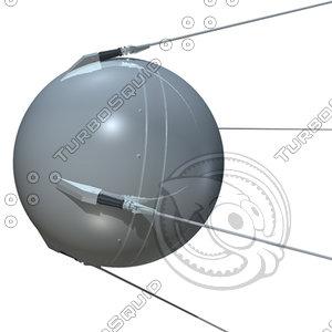 sputnik 1 3d model