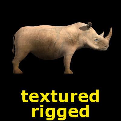 rhinoceros animation 3d max