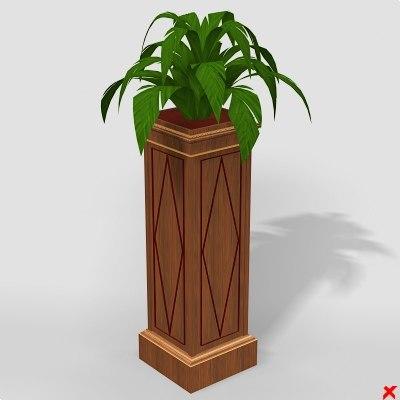 3d flower stand model