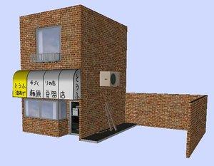 fujiwara tofu shop initial d 3d model