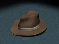 3d model of old western cowboy hat
