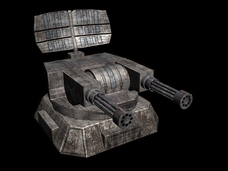 3d model stationary turret
