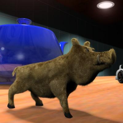 3d rigged hog